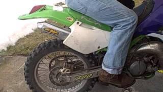 Kawasaki KDX200 Cold Start
