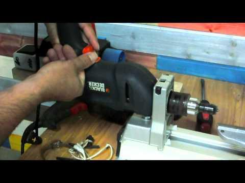 Regulación de velocidad del taladro del torno absurdamente sencillo. Drill lathe speed variation