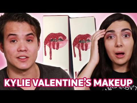 Trying Kylie Jenner s Valentine s Makeup With My Boyfriend • Saf & Tyler
