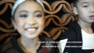 Azahra Leola KitKatKids Perform In Gandaria city  24 July 2016