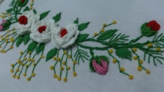 Hand embroidery designs. Embroidery tutorial.Embroidery for frocks  and dresses.