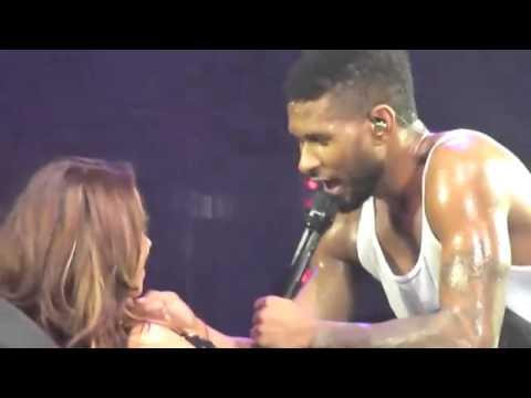 Usher simula sexo com fã no palco