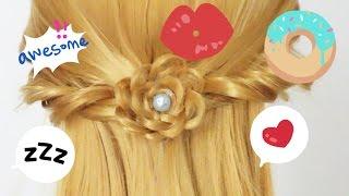 ผมถัก # 54/ ถักเปียสวยๆ แบบง่ายๆ/ Angel Wings Half Updo Hair Tutorial Barbie & Ken Channel