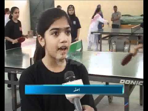 Lahore Distt School Girls Table Tennis Tournament Started Pkg By Amir Raza City42