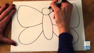Teaching Kids to Draw: How to Draw a Butterfly