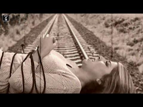 Daniella Monet Tied Up on Tracks