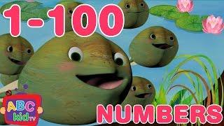 Numbers Song 1-100 | Nursery Rhymes & Kids Songs - ABCkidTV