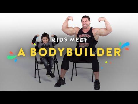 Kids Meet a Body Builder Kids Meet HiHo Kids