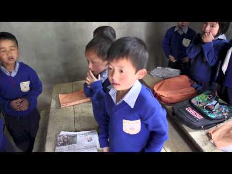 James visits Sikkim Himalaya Academy
