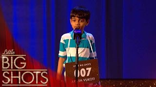 Little brainbox Akash can spell any word! | Little Big Shots