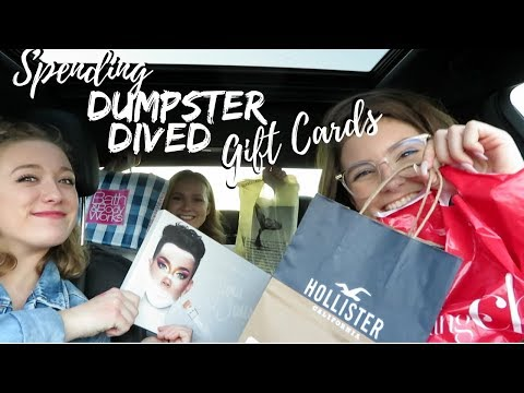 DUMPSTER DIVED GIFT CARDS SHOPPING SPREE