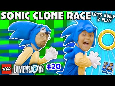 SONIC THE HEDGEHOG TWINS LEGO Dimensions Fun w Dr Robotnik Battle Let s Build & Play YEAR 2 20