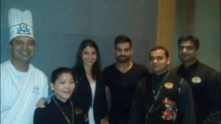 Virat Kohli With Anushka Sharma At Bangaluru Restaurant - Kolly Mirchi