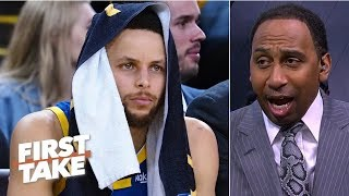 Steph Curry on defense really worries me - Stephen A.   First Take