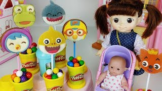 Baby Shark jelly and pororo Chocolate and Play doh surprise cooking toys baby Doll play - 토이몽