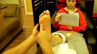 Foot Reflexology routine (Right foot)