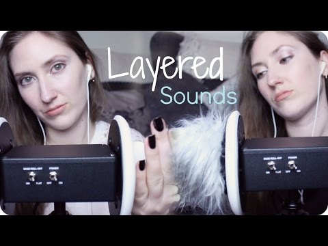 ASMR 3Dio Layered Ear Massage & Fluffy Mic Brushing Sounds (NO TALKING) Trigger Assortment