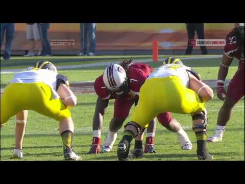 Jadeveon Clowney Hit vs. Michigan Outback Bowl