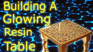 Making an Epoxy Resin and Wood Art Coffee Table - Glow in the dark