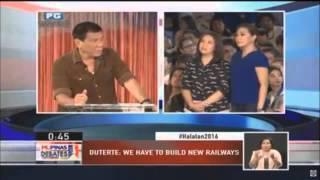 PiliPinas Debates 2016: Duterte will improve mass transit