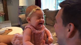Daughter Sees Dad Without Beard - Baby Misses Dad's Beard - Funny baby at United States