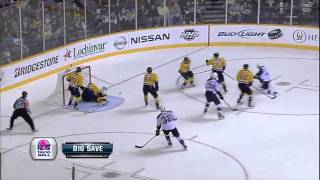 Pekka Rinne makes impressive reaction save 2/4/12