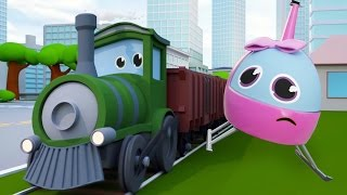 SUPER HELI SAVES TRAIN FROM BAD CARS ATTACK | TOY MOVIE