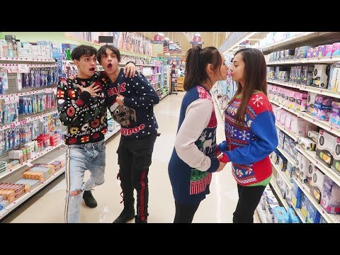 EXTREME DARES IN GROCERY STORE WITH MOM AND GIRLFRIEND