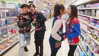 EXTREME DARES IN GROCERY STORE WITH MOM AND GIRLFRIEND!