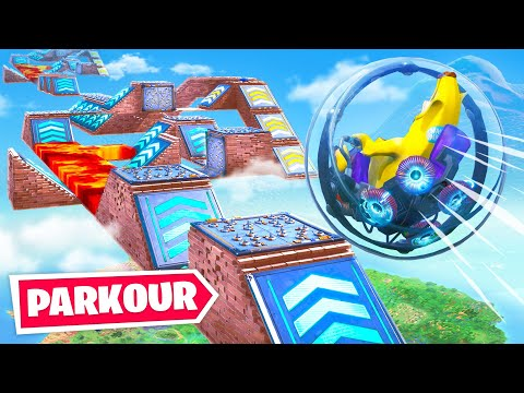 Impossible New Fortnite Baller Obstacle Course Hamster Ball Parkour Challenge