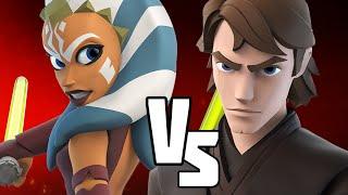 ANAKIN VS AHSOKA - Disney Infinity BATTLES!