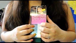 Self ASMR Hair Dyeing | Soft Spoken | Gloves | Brushing | Paper Sounds