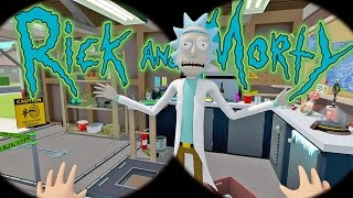 Rick and Morty Virtual Rick-ality - Space Ship Upgrades & Butt Seeds - Rick and Morty VR Gameplay