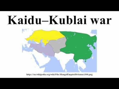 Kaidu–Kublai war