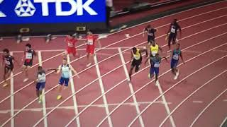 Usain Bolt injury (pulled hamstring) 4x100m Relay Men Final IAAF World Champs 2017
