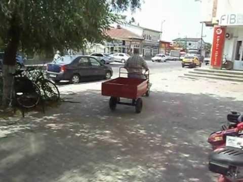Motosapa Motocultor pe benzina 7CP cu remorca WWW.AGROMOTORS.RO
