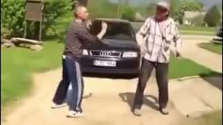 Drunk old man`s fight