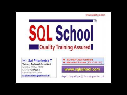 MSBI Training Video from SQL School Training Institute