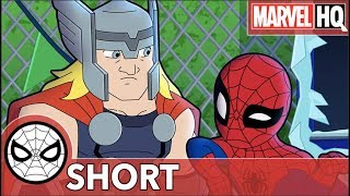 Spidey & Thor Break The Ice! | Marvel Super Hero Adventures - Uh Oh, It's Magic! | SHORT