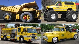 Learn Yellow Transport and Vehicles for Children - Learn Vehicles Names in English