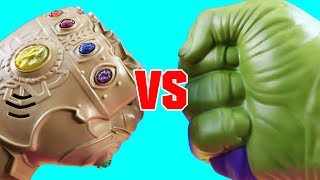 Ultimate Hulk Smash Vs. Infinity War Ultimate Infinity Gauntlet + Imaginext Transforming Superheroes