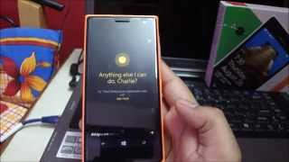 Cortana on Nokia Lumia 730 (question and basic commands)