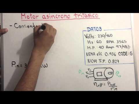 Cálculos reales en motores asíncronos trifásicos