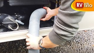 Disappearing RV Sewer Hose Storage Tip