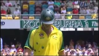Cricket Golden Ducks, Adam Gilchirst getting bowled by Shaun POllock, Aus Vs SA