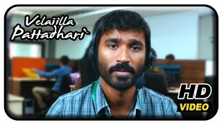 Velaiilla Pattadhari Tamil Movie - Dhanush gets a job in BPO
