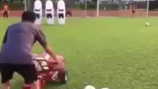 شاهد تمرين رائع لتدريب حراس المرمى على الركلات الحرة