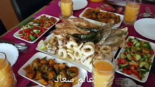 وجبة غذاء مميزة من ثلاث وصفات لذيذة من مطبخ عالم سعاد 🌹🌻🌺🌳🏵