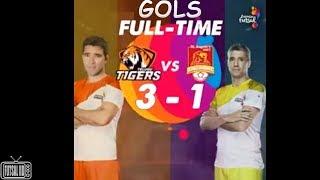 Gols Telugu Tigers (Deco) 3 x 1 Chennai Singhams (Crespo) Premier Futsal Índia 2017