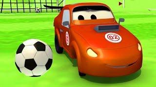 A Super Patrulha: caminhão de bombeiro & carro de polícia: Tyler batota no futebolna Cidade do Carro